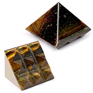 Multi Pyramid in Tiger Eye-Luck and stability