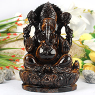 Tiger Eye Ganesha - 750 gms