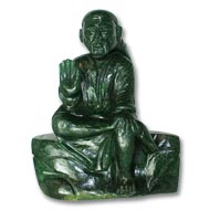 Sai Baba statue in Green Jade