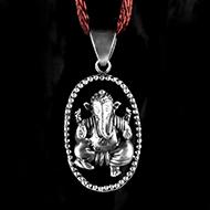 Ganesh Locket in Pure Silver - Design XLIII