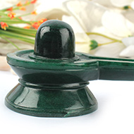 Green Jade Shivlinga - 290 gms