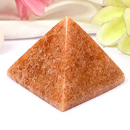 Pyramid in Natural Red Jade
