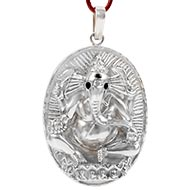 Titawala Ganesh and Hanuman pendant in Pure Silver