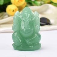 Ganesha in Light Green Jade - 85 gms