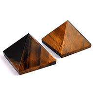 Pyramid in Natural Tiger Eye - I - Set of 2
