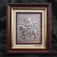 Durga Maa in silver