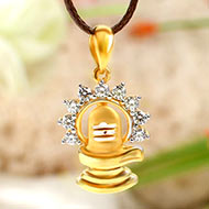 Shivling Locket in Pure Gold - 2.3 gms