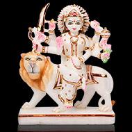 Maa Durga on Lion Idol in Marble