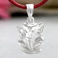 Ganesh Locket in Pure Silver - Design LII