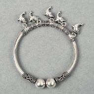 Hanging Dolphin Designer Kada in Pure Silver