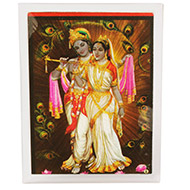 Radha Krishna Glittering Photo - II