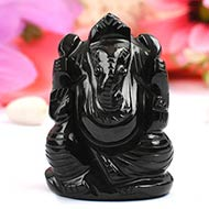 Black Agate Ganesha - 108 gms
