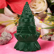 Green Jade Shree Yantra on Lotus - 145 gms