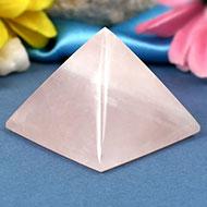 Pyramid in natural Rose Quartz-I