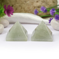Pyramid in Light Green Jade - Set of 2