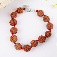 Rudraksha Bracelet in thread - 11 mm