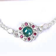 Pure silver Rakhi - Design X