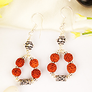 Earrings of Rudraksha beads - design IV