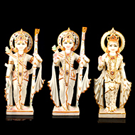Ram Parivar in white marble idol