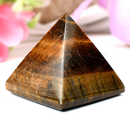 Pyramid in Tiger Eye-Luck and stability