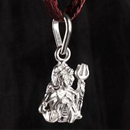 Shiva Parvati Locket - in Pure Silver