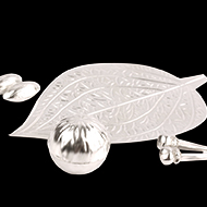 Betel Leaf Supari Clove Cardamom set in pure Silver