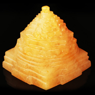 Yellow Jade Shree Yantra - 302 gms