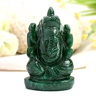 Green Jade  Ganesha - 101 gms