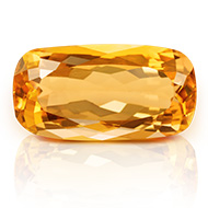 Yellow Citrine - 8.35 carats - Cushion