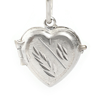 Heart Locket - in Pure Silver - Design I