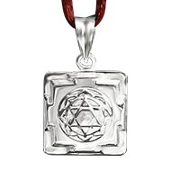 Mahalakshmi Yantra Locket in Silver - 3D