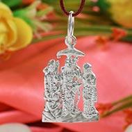 Ram Parivar in Pure Silver locket - Design II