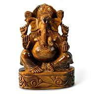 Tiger Eye Ganesha - 1418 gms