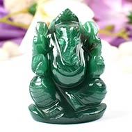 Ganesha in Australian Green Jade - 108 gms