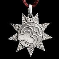 Om Locket in Pure Silver - Design XI