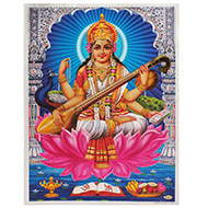 Goddess Saraswati Photo - Large