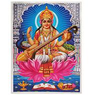 Goddess Saraswati Photo - Large