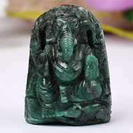 Ganesha in Emerald - 140 carats - Right Trunk