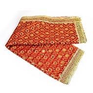 Devi Chunri Puja Net Cloth Red Gold Embroidery