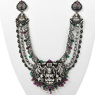 GajaLakshmi Temple Necklace in pure silver