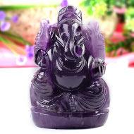 Ganesha in Amethyst-237 gms