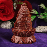 Lotus Shree Yantra in Sunstone - 85 gms