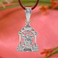 Tirupati Balaji Locket in Pure Silver - I