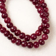 Ruby Mala - Rondelle beads