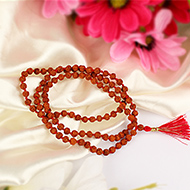 Rudraksha mala in thread - 5mm