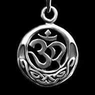Om Locket in Pure Silver - 4 gms