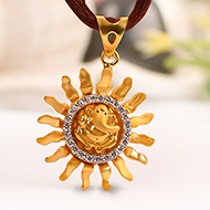 Ganesh Pendant in Gold - 2.72 gms