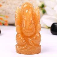 Yellow Jade Ganesha - 111 gms