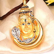 Shiva Pendant in Gold