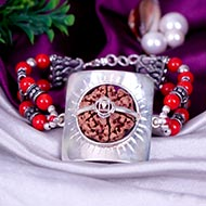 6 Mukhi Collector and Coral Bracelet (Root)